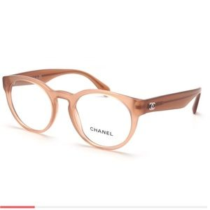 Chanel round eyeglasses nude color